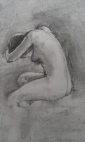 Figure Drawing by Holly