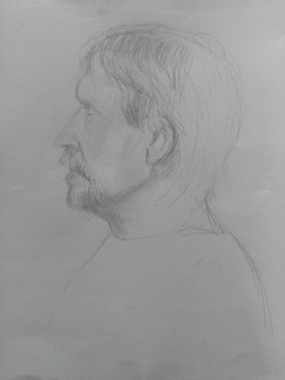 Sketch of sean, with the help of Mr G.